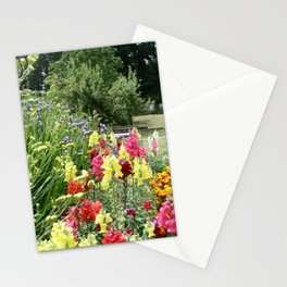 English Country Garden Scene Stationery Cards