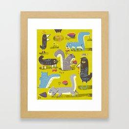 Suburbanites Framed Art Print