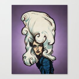 Marshmallow Hair Canvas Print