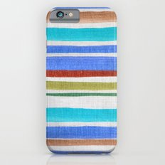 AZTEC BLANKET - BLUE iPhone 6s Slim Case