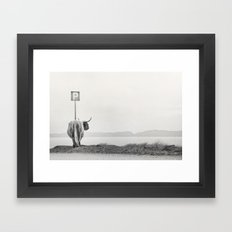 highland visitor Framed Art Print