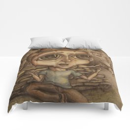 Boy on the Hill Comforters