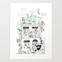 the neighbourhood Art Prints featuring Neighbourhood by neicosta