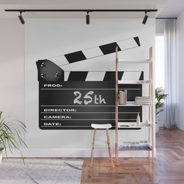 25th Year Clapperboard Wall Mural