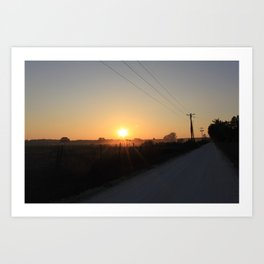 backroad sunset Art Print