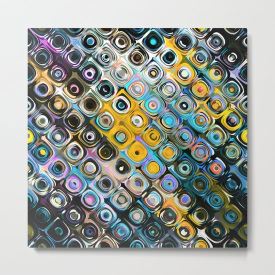 Colorful Round Pattern Metal Print