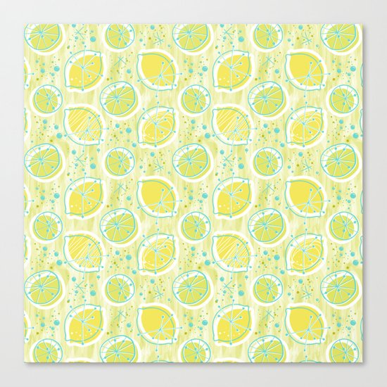 Atomic Lemonade_Green and Cerulean Canvas Print