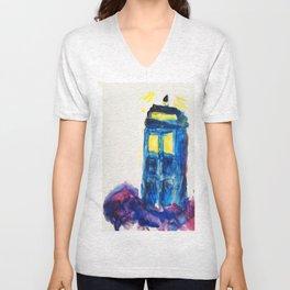 TARDIS Unisex V-Neck
