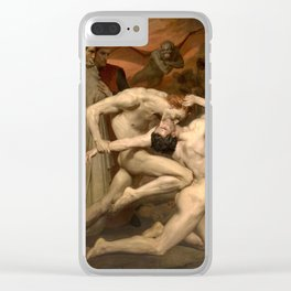 Dante and Virgil in Hell by William Bouguereau Clear iPhone Case