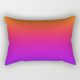 Colorful Gradient Pattern Neon Abstract Rainbow Rectangular Pillow