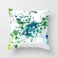 fish ink Throw Pillow