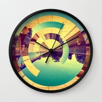 glass Wall Clocks featuring L'Infinito by Victor Vercesi