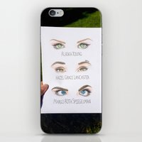 john green iPhone & iPod Skins featuring John Green Book Character Eyes by dancing_papers