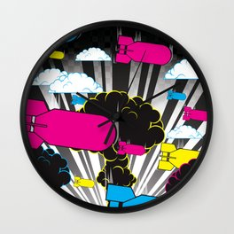 CMYKaBOOM! Wall Clock
