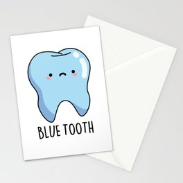 Blue Tooth Cute Technology Pun Stationery Cards