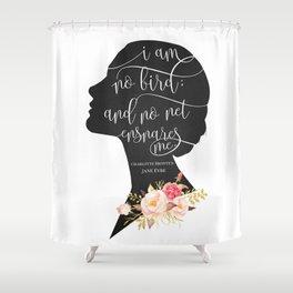 I am no Bird - Charlotte Bronte's Jane Eyre Shower Curtain