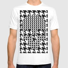 houndstooth skull #1 White Mens Fitted Tee MEDIUM