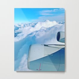 Lufthansa Flight from Munich to LAX, November 2017 Metal Print