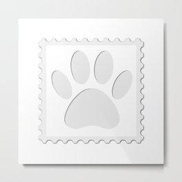 Dog Paw Print Cut Out Metal Print