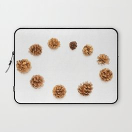 pine cones isolated on a white background Laptop Sleeve