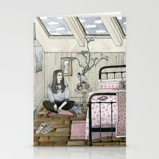Girls bedroom Stationery Cards