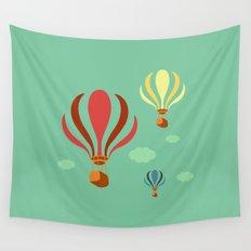 Hot Air Balloon Ride Wall Tapestry