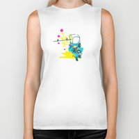 blossom Biker Tanks featuring Blossom by MAD.