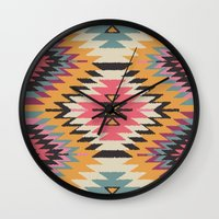 navajo Wall Clocks featuring Navajo Dreams by Bohemian Gypsy Jane