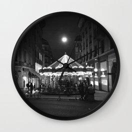 Geneva at night Wall Clock