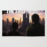 the last of us Area & Throw Rugs featuring The Last of Us by Icemanire