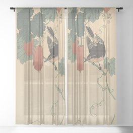 little bird Sheer Curtain