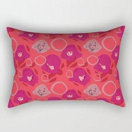 Ladies Red Rectangular Pillow