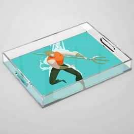 With the fishes Acrylic Tray