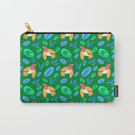 Pretty beautiful cute little birds and green blue delicate leaves green pattern. Gift ideas. Nursery Carry-All Pouch