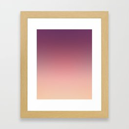 Purple cream Ombre . Framed Art Print