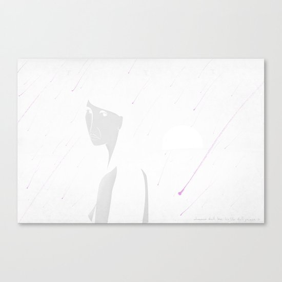 Lot's Wife Turns to Salt (by Troy DeShano) Canvas Print