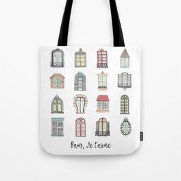 Paris windows watercolor Tote Bag