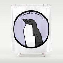 Portrait of Little Blue Penguin Shower Curtain