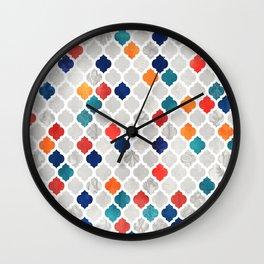 Sea & Spice Moroccan Pattern Wall Clock