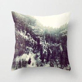 Mountain Flash Throw Pillow