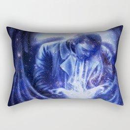 Angel in Blue Rectangular Pillow