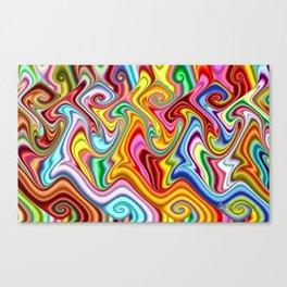 Rainbow Gnarl Swirls Canvas Print