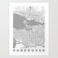 Vancouver Map Line Art Print