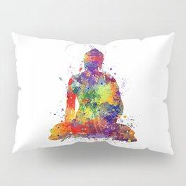 Buddha Watercolor Yoga Poster Zen decor Pillow Sham
