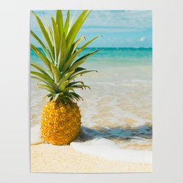 Pineapple Beach Poster