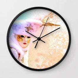 Magic of Venetian Carnival Wall Clock
