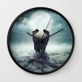 Guide You Through the Darkness Wall Clock
