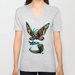 Mothra Kaiju Print FC Unisex V-Neck