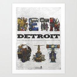 Detroit Series: The Present - Cover Art Print