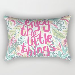 Enjoy The Little Things (Quotation Series) Rectangular Pillow